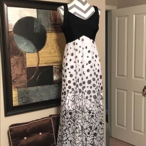 NWOT Cato Black/White Maxi Dress w/Lining